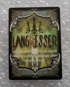Langrisser Millennium trading card back