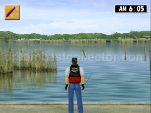 Bass Rush Dream ~Eco Gear PowerWorm Championship after choosing your location your able to walk up & down to pick your perfect spot. ©2000 Visco Corporation ©2018 image by dreamcastcollector