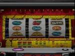 While not a jackpot still a winning combination on JISSEN PACHISLO HISSYOUHOU @ VPACHI's The Kongdom Pachi-Slot machine. Prize lines are displayed to help players. © 2000 MAXBET © DAIKOKU DENKI CO., LTD., 2000 © YAMASA © 2000 Sammy