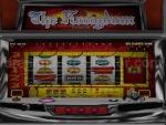 A look at some gameplay on JISSEN PACHISLO HISSYOUHOU @ VPACHI's The Kongdom Pachi-Slot machine. Notice the big chance reel on the far left. © 2000 MAXBET © DAIKOKU DENKI CO., LTD., 2000 © YAMASA © 2000 Sammy