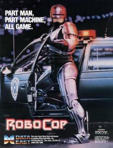 ROBOCOP arcade flyer. ©1988 DATA EAST CORPORATION