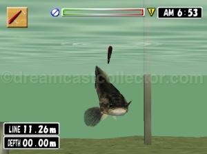 As i've stated i've no experience of angling but the fish seem to behave in a realistic manner . ©2000 VISCO CORPORATION. ©2018 image by dreamcastcollector