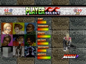 The full compliment of playable characters featured in Cool Boarders Burrrn! ©1999 UEP SYSTEMS,Inc