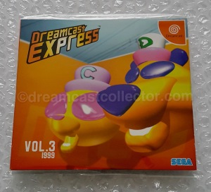 DREAMCAST EXPRESS Vol. 3 which contains the playable Cool Boarders Burrrn! trial. This trial is the same as the one featured on the Dreamcast Magazine's GD-Rom Vol. 2 Disc 1.©1999 SEGA. Image ©2018 dreamcastcollector