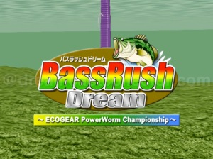 Bass Rush Dream ~ECOGEAR PowerWorm Championship~ title screen. ©2000 VISCO CORPORATION. ©2018 image by dreamcastcollector