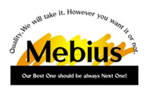 Mebius company logo. ©1999 Mebius Co., Ltd