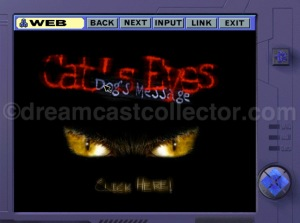 The CAT's Eyes website which you first encountered through an email link soon after you've registered at Meisen. ©1999 Mebius Co., Ltd