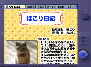 It seems even in a simulated version of the internet from two decades ago was obsessed with cat's much like the actual internet currently is. © Mebius Co., Ltd