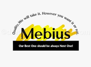 Mebius company logo as featured in WEB MYSTERY ~予知夢ヲ見ル猫~. ©1999 Mebius Co., Ltd