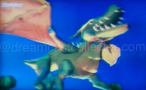 The footage contained in this build is clearly very early which highlights just how different it is from the final retail release notice the SOFTDEC name (Dreamcast video codec) in the upper left corner. This believe it or not is the dragon from the games introduction movie it almost looks more akin to a super deformed style character model rather than the more realistic rendering found in the released game. © SEGA ENTERPRISES, LTD, 1998, 1999